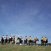 'A Day at the Polo'<br /> The two teams are presented to the crowd during the International Polo Test match between Australia and England at the Windsor Polo Club, Richmond, Sydney, Australia on March 29, 2009. Australia won the match 8-7.  Photo Tim Clayton