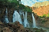 Arizona, Supai, Havasupai Nation, Navajo Falls, Reservation, Grand Canyon region, Havasu Canyon, Havasu River tributary of Colorado River