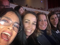 """Salma Hayek releases a photo on Instagram with the following caption: """"This #dancemoms\ud83d\udc83\ud83c\udffe\ud83d\udc83\ud83c\udffe are celebrating \ud83c\uddec\ud83c\udde7 #mothersday at a dance competition supporting our girls. Estas mam\u00e1s estamos celebrando el d\u00eda de las madres en el Reino Unido \ud83c\uddec\ud83c\udde7 viendo a nuestras hijas bailar en una competencia #happymothersday #london"""". Photo Credit: Instagram *** No USA Distribution *** For Editorial Use Only *** Not to be Published in Books or Photo Books ***  Please note: Fees charged by the agency are for the agency's services only, and do not, nor are they intended to, convey to the user any ownership of Copyright or License in the material. The agency does not claim any ownership including but not limited to Copyright or License in the attached material. By publishing this material you expressly agree to indemnify and to hold the agency and its directors, shareholders and employees harmless from any loss, claims, damages, demands, expenses (including legal fees), or any causes of action or allegation against the agency arising out of or connected in any way with publication of the material."""