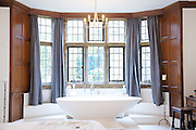 The Bakers' bedroom, Pickwell Manor, Georgeham, North Devon, UK.<br /> CREDIT: Vanessa Berberian for The Wall Street Journal<br /> HOUSESHARE