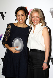 Ann Marie-Duff presented Sarah Gavron with the Deluxe director award at the Women in Film & TV Awards at the Hilton hotel in central London.