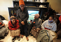 South Africa - Cape Town - 31 July 2020 - Family and friends at the home of Family of three, Mother Nomaphelo Kebe, (45) who was shot and killed at their home in Mfuleni. Wendy Kebe, 23, daughter and Sive Kebe, 17, son also died.  Picture: Brendan Magaar/African News Agency(ANA)