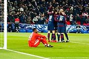 Steve Mandada (om) after the third goal of psg during the French Cup football match between Paris Saint-Germain and Marseille on February 28, 2018 at Parc des Princes Stadium in Paris, France - Photo Pierre Charlier / ProSportsImages / DPPI