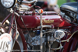 Fred Wacker's 1913 Indian in the Motorcycle Cannonball coast to coast vintage run. Stage 8 (314 miles) from Spirit Lake, IA to Pierre, SD. Saturday September 15, 2018. Photography ©2018 Michael Lichter.