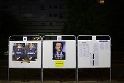 May 3, 2017 - Paris, France, France - Emmanuel Macron - candidat En Marche aux elections presidentielles de 2017..Marine Le Pen - candidate FN / Front National aux elections presidentielles de 2017..affichage municipal du Second Tour (Credit Image: © Panoramic via ZUMA Press)
