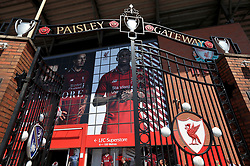 A view of the Paisley Gateway at Anfield before the game