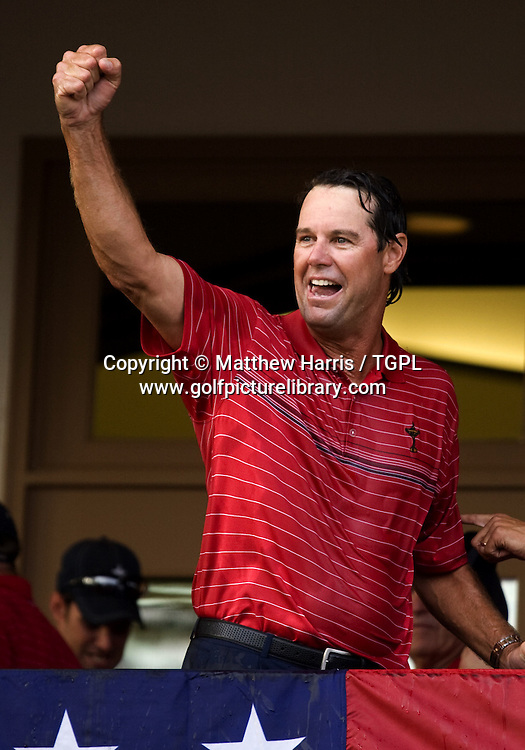 Captain Paul AZINGER (USA) celebrates victory during Singles 2008 Ryder Cup Matches, Valhalla, Louisville, Kentucky, USA.