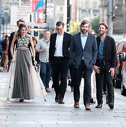 Edinburgh International Film Festival 2019<br /> <br /> Liberte: A Call To Spy (World Premiere)<br /> <br /> Pictured: Producer, writer & actor Sarah Megan Thomas, Marc Rissman (right) and Rossif Sutherland (2nd right)<br /> <br /> Alex Todd   Edinburgh Elite media