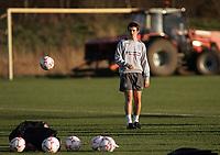Photo: Paul Thomas.<br /> England training session. 05/02/2007.<br /> <br /> Joey Barton during England training.