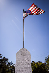August 17, 2017 - San Diego, California, US - Aug. 17, 2017 - San Diego, CA - A memorial to Confederate soldiers stands at Mt. Hope cemetery, a city-owned and operated memorial park, in San Diego. The memorial was erected in 1901 by the United Daughters of the Confederacy. Photo by David Poller (Credit Image: © David Poller via ZUMA Wire)