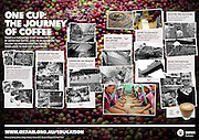 2015 01 11 Tearsheet Oxfam Australia One cup The journey of coffee poster East Timor