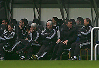 Photo: Andrew Unwin.<br />Newcastle United v Mansfield Town. The FA Cup.<br />07/01/2006.<br />The Newcastle bench, including manager Graeme Souness (R), look on nervously.