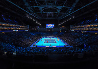 Tennis - 2019 Nitto ATP Finals at The O2 - Day Two<br /> <br /> Doubles Group Max Mirnyi: Kevin Krawietz (GER) & Andreas Mies (GER) Vs. Jean-Julien Rojer (NED) & Horia Tecau (ROM)<br /> <br /> A general view if the Nitto ATP Finals Court<br /> <br /> <br /> COLORSPORT/DANIEL BEARHAM