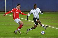Football - 2020 / 2021 Sky Bet Championship - Swansea City vs Barnsley - Liberty Stadium<br /> <br /> Jamal Lowe of Swansea shoots at goal<br /> <br /> COLORSPORT/WINSTON BYNORTH