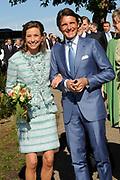 Koninginnedag 2012 in de Utrechtse gemeente Rhenen.// Queensday 2012 in the city of Rhenen.<br /> <br /> Op de foto:  Prins Maurits en Prinses Marilène