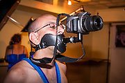26 MAY 2007 -- A person used a digital camera attached to a mask to take pictures at the Fetish Prom at the Venue Nightclub in Scottsdale Saturday night. About 1,200 people, many members of the pangender, pansexual and panfetish community attended the event.  PHOTO BY JACK KURTZ