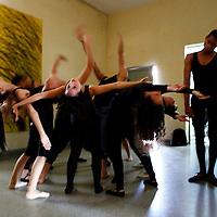Central America, Cuba, Santa Clara. Dance and mime performers at the Santa Clara Musical School of Art, Cuba.
