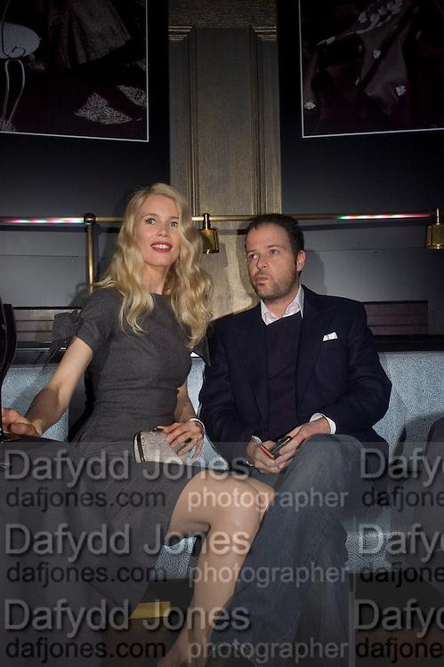 Claudia Schiffer and Matthew Vaughn, Dom Perignon and Claudia Schiffer host a celebration of Dom Perignon Oenotheque 1995. The Landau, Portland Place. London W1. 26 February 2008.  *** Local Caption *** -DO NOT ARCHIVE-© Copyright Photograph by Dafydd Jones. 248 Clapham Rd. London SW9 0PZ. Tel 0207 820 0771. www.dafjones.com.