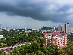 September 4, 2017 - Nanning, Nanning, China - Nanning, CHINA-29th August 2017: (EDITORIAL USE ONLY. CHINA OUT) A sudden storm hits Nanning, southwest China's Guangxi. (Credit Image: © SIPA Asia via ZUMA Wire)