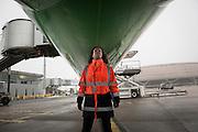 The French civil aviation authority randomly controls airplanes before the take off.  At Roissy, Nesrine, 34, works as a technical inspector  for the DGCA (Directorate General of Civil Aviation) - she is the only female technical controller at the airport of Roissy-en-France. She can stop a Boeing taking off and make the 300 passengers leave the airplane. Nesrine Chkioua is the only woman controller at Roissy Airport and one of three women doing this job in France.<br /> <br /> <br /> À Roissy, Nesrine, 34 ans, exerce le métier de contrôleur technique (CTE) pour la DGAC (Direction générale de l'aviation civile) - elle est la seule femme contrôleur technique à l'aéroport de Roissy-en-France.  Elle peut immobiliser un Boeing, retarder le décollage et même faire débarquer les 300 passagers d'un long-courrier. Nesrine Chkioua est la seule contrôleur femme à Roissy aéroport et est une des trois femmes à exercer ce métier en France.