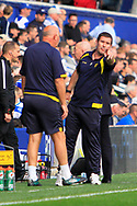 Burton Albion manager Nigel Clough reacts during the EFL Sky Bet Championship match between Queens Park Rangers and Burton Albion at the Loftus Road Stadium, London, England on 23 September 2017. Photo by Richard Holmes.