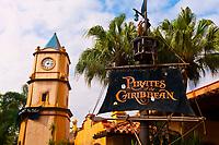 Pirates of the Caribbean ride at Magic Kingdom, Walt Disney World, Orlando, Florida USA