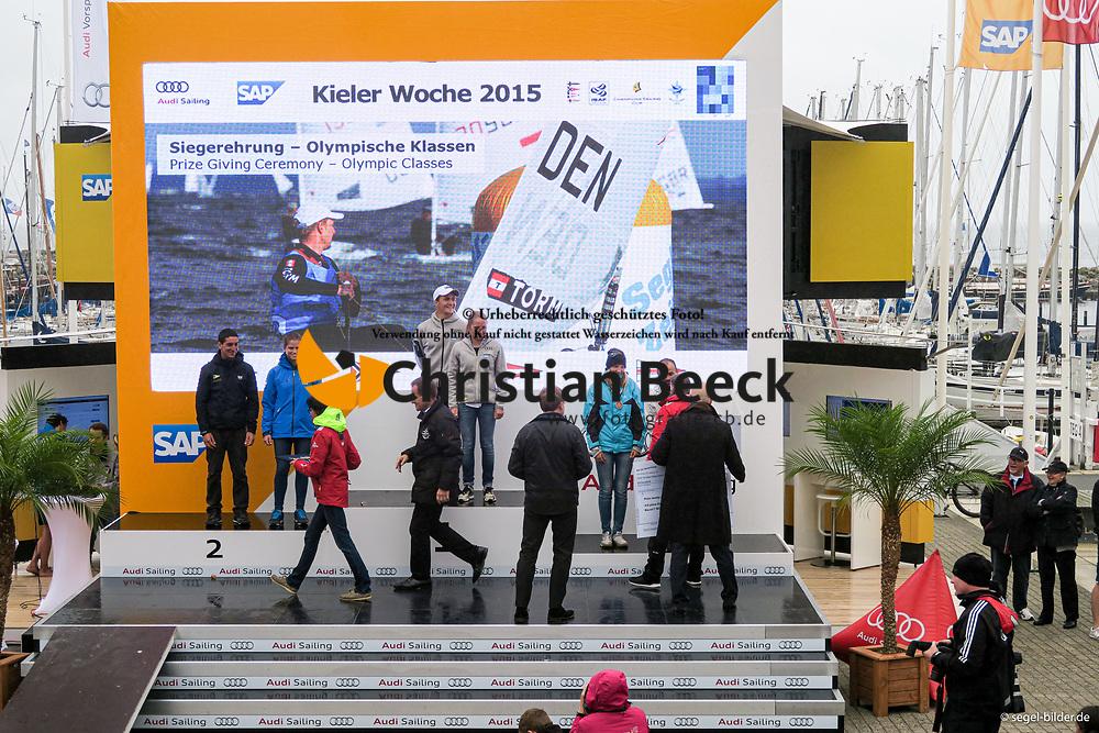 , Kiel - Kieler Woche 20. - 28.06.2015, Siegerehrung - 24.06.2015