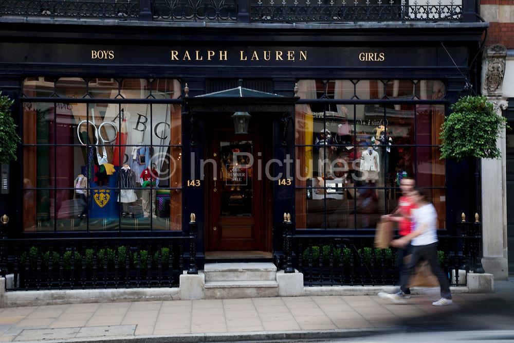 Ralph Lauren fashion clothing shop, New Bond Street, central London