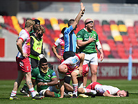Rugby Union - 2020 / 2021 Gallagher Premiership - Round 17 - London Irish vs Harlequins - Brentford Community Stadium<br /> <br /> Harlequins' Will Evans injured and subsequently is carried off in the first half.<br /> <br /> COLORSPORT
