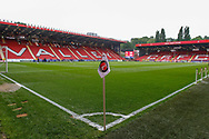 General stadium view inside The Valley stadium before the EFL Sky Bet League 1 second leg Play-Off match between Charlton Athletic and Doncaster Rovers at The Valley, London, England on 17 May 2019.