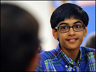 """A  """"Day in the life of Suraj Modi""""  student at Twin Rivers Middle School on May 19, 2015 in Buford, Georgia. Johnny Crawford/SPECIAL"""