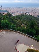 Descending to Barcelona from Tibidabo