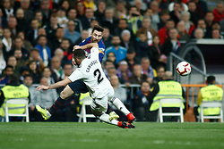March 2, 2019 - Madrid, MADRID, SPAIN - Lionel (Leo) Messi of FC Barcelona and Dani Carvajal of Real Madrid during the spanish league, La Liga, football match played between Real Madrid and FC Barcelona at Santiago Bernabeu Stadium in Madrid, Spain, on March 02, 2019. (Credit Image: © AFP7 via ZUMA Wire)