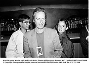 Kunal Kapoor, Martin Amis and Louis Amis, Tommy Hilfiger party. Browns, WC2 London27/9/97 Film 97294f8<br />© Copyright Photograph by Dafydd Jones<br />66 Stockwell Park Rd. London SW9 0DA<br />Tel 0171 733 0108