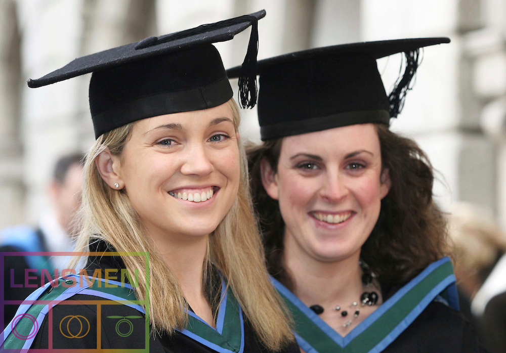 CONFERRING OF INSTITUTE OF PUBLIC ADMINISTRATION NUI AWARDS<br /><br />Pictured at the Conferring in Dublin Castle, on the 28th of November 2006 were graduates of the Master of Arts (Healthcare Management) Anne Marie Kennedy and Sally Downing Health Care Management. *** Local Caption *** It is important to note that under the COPYRIGHT AND RELATED RIGHTS ACT 2000 the copyright of these photographs are the property of the photographer and they cannot be copied, scanned, reproduced or electronically stored in any form whatsoever without the written permission of the photographer