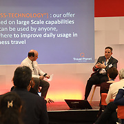Tristan Dessain of Sabre speaker at at Business Travel Show 2020 and travel technology europe on 26th February 2020, Olympia London‎, UK.