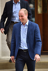 The Duke of Cambridge leaves the Lindo Wing at St Mary's Hospital in Paddington, London, after the birth of his second son.