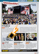 The Main V festival stage at Virgin / Zoo Magazine / 2004