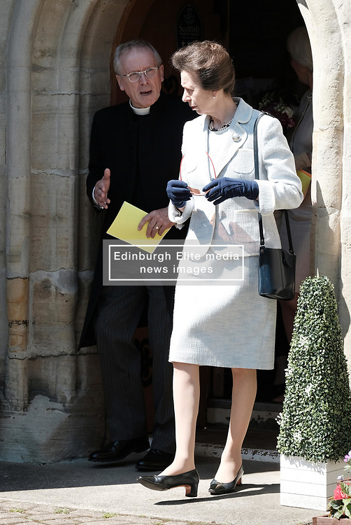 ** Exclusive **<br /> <br /> Princess Royal visits Kirk of Calder, Thursday 25th May 2017<br /> <br /> The Princess Royal visited Kirk of Calder in Mid Calder, Livingston today to accept a cheque on behalf of The Vine Trust.<br /> <br /> £85,500 has been raised by members and organisations of the kirk to help fund an orphanage in Tanzania.<br /> <br /> There was an increased police presence due to the recent Manchester bombing.<br /> <br /> (c) Alex Todd | Edinburgh Elite media