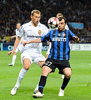 Fotball<br /> Italia<br /> Foto: Insidefoto/Digitalsport<br /> NORWAY ONLY<br /> <br /> Dejan Stankovic dell'inter<br /> <br /> 31.03.2010<br /> Inter v CSKA Mosca<br /> Champions League 2009/2010