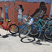 Bikes parked at Mission View Elementary School during Cyclovia Tucson 2013. Bike-tography by Martha Retallick.