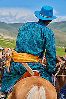 Mongolie, province de Bayankhongor, cavalier mongol // Mongolia, Bayankhongor province, Mongolian horserider