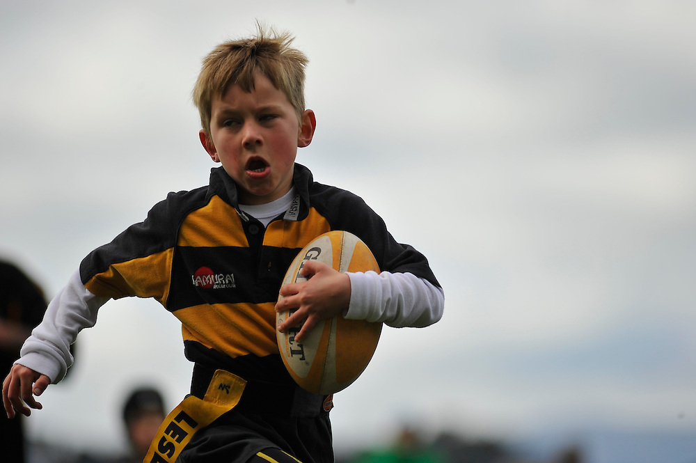 Wildcats vs Oriental Rongatai Rugby U7's ripper rugby game at Te Whaea artificial sportsfield, Wellington. 20 August, 2011...Photo by Mark Tantrum   www.marktantrum.com