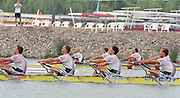 St Catherines, CANADA,  Men's   Quadruple Sculls. AUT M4X. Raphael HARTL, Arnold JONKE, Norbert LAMBING and Horst NUSSBAUMER.  1999 World Rowing Championships - Martindale Pond, Ontario. 08.1999..[Mandatory Credit; Peter Spurrier/Intersport-images]   .   ... 1999 FISA. World Rowing Championships, St Catherines, CANADA