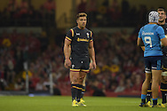 Rhys Webb of Wales looks on.  Wales v Italy, RWC warm up international match at the Millennium Stadium in Cardiff ,South Wales on Saturday 5th Sept  2015. pic by Andrew Orchard, Andrew Orchard sports photography.
