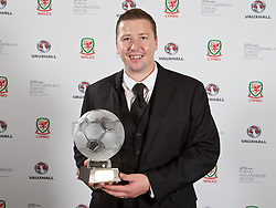 CARDIFF, WALES - Monday, October 5, 2015: FAW Fair Play Award winners during the FAW Awards Dinner at Cardiff City Hall. (Pic by David Rawcliffe/Propaganda)