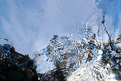 Underwater light refraction
