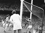 Roscommon goalie with his hands up protecting his goal during the All Ireland Senior Gaelic Football Semi Final Replay Roscommon v Armagh in Croke Park on the 28th August 1977. Armagh 0-15 Roscommon 0-14.