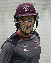 Somerset's Ryan Davies looks on. - Mandatory byline: Alex Davidson/JMP - 25/02/2016 - CRICKET - The Cooper Associates County Ground -Taunton,England - Somerset CCC  Media access - Pre-Season