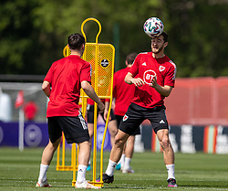 CARDIFF, WALES - Friday, June 4, 2021: Wales' Tom Lockyer during a training session at the Vale Resort ahead of an International Friendly against Albania as they prepare for the UEFA Euro 2020 tournament. (Pic by David Rawcliffe/Propaganda)
